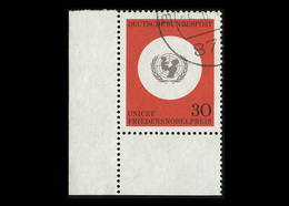 BRD 1966: Mi.-Nr. 527, 20 Jahre UNICEF, Eckrand Unten Links, Gestempelt - BRD