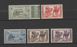 Mauritanie 5 Nine Stamps 1938-41 (3 MH*, 2 Without Gum) - Unused Stamps