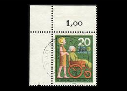 BRD 1970, Michel-Nr. 631, Freiwillige Hilfsdienste, 20 Pf., Eckrand Oben Links, Gestempelt - BRD