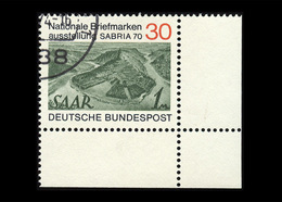 BRD 1970, Michel-Nr. 619, SAPRIA 70, 30 Pf., Eckrand Unten Rechts, Gestempelt - BRD