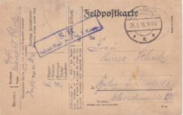 German Feldpost WW1: Infanterie Regiment 254 (7. Kompanie/II. Bataillon) P/m 26.9.1918 - Postcard  (G84-83) - Militaria