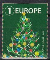 Belgique 2018 Non Oblitéré Sur Fragment Used Greetings Voeux Sapin De Noël Vert - Belgique