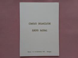 REPUBBLICA - Marcofilia - Cartoncino Campionati Europei Baseball + Spese Postali - 6. 1946-.. Repubblica