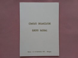 REPUBBLICA - Marcofilia - Cartoncino Campionati Europei Baseball + Spese Postali - 1946-.. République