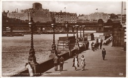EMBANKMENT FROM COUNTY HALL-LONDON-REAL PHOTO -VIAGGIATA 1936 - London