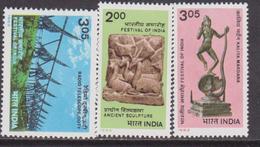 1982 INDIA, PRESENTATION PACK, FESTIVAL OF INDIA,KALIYA MARDADA,SCULPYURE,OOTY MNH - Nuovi