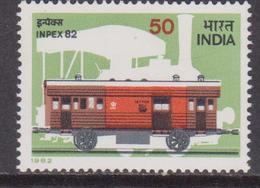 India 1982 SG 1070 INPEX 82 Ferrovia Coach MNH - Nuovi