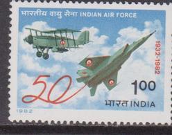 India 1982 AEREI/INDIAN Air Force/Aeromobile Set MNH - Nuovi