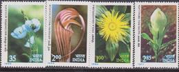 India India 1982 ** Mi.908/11 FIORI FLOWERS Flora Himalaya Piante MNH - Nuovi
