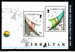 A1314 GIBRALTAR 1992, SG MS681 Round The World Yacht Rally,  MNH - Gibilterra