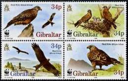 A5201 GIBRALTAR 1996, SG 784-7 WWF Endangered Species, Red Kite, Birds, MNH - Gibilterra