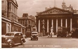 ROYAL EXCHANGE AND BANK OF ENGLAND-LONDON-REAL PHOTO-VIAGGIATA 1949 - London