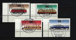 BUND Mi-Nr. 836 - 839 Eckrandsatz Links Unten Lokomotiven Gestempelt - Gebraucht