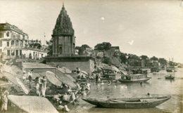 INDIA - Varanasi - Burning Ghat - Rarer Untitled RPPC By  K Ltd (1) - Superbly Animated - Inde