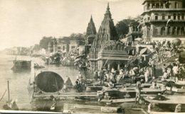 INDIA - Varanasi - Burning Ghat - Rarer Untitled RPPC By  K Ltd (2) - Superbly Animated - Inde