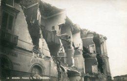 ITALY - Sicily. MESSINA Earthquake Disaster - Rarer RPPC -  Palazzo  Via I Settembre - Disasters