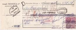 Lettre De Change Joseph THEVENIN Monnetier - Mornex 1938 - Lettres De Change