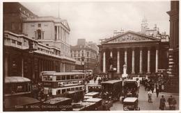 ROYAL EXCHANGE AND BANK OF ENGLAND-LONDON-REAL PHOTO- 1949 - London