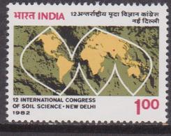 India 1982  Scienze Map Soil Set MNH - Nuovi