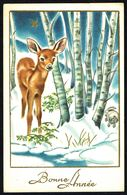 "FAON - FAWN - REEBOK - "" Bonne Année "" - Circulé - Circulated - Gelaufen - 1949. - Animals"