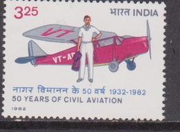 India 1982 Aviazione Civile/Aeromobile/piani/Trasporto/COMMERCE MNH - Nuovi