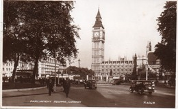 PARLIAMENT SQUARE-LONDON-REAL PHOTO-VIAGGIATA 1950 - Houses Of Parliament