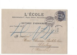 22086 - Lausanne L'Ecole Administration Payot Pour Chabrey En 1897 (attention Pli Vertical) Cachets Villars-le-Grand - VD Waadt
