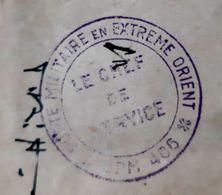 COCHINCHINE INDOCHINE CACHET POSTE MILITAIRE EN EXTREME ORIENT CHEF DE SERVICE VIETNAM VIET NAM CACHETS MILITARIA ASIE - Vietnam