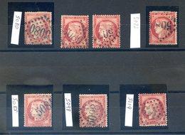 France - Ceres N°57 - Lot De Bureaux Français à L'étranger - GC 5080 (x2), 5083 (x2), 5085, 5098 Et 5119 - (F088C) - 1871-1875 Cérès