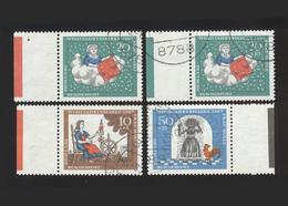 BRD 1967, Michel-Nr. 538 / 2 X 539 / 541, Wohlfahrt 1967, Jeweils Bogenrand Mit Farbbalken, Gestempelt, Siehe Foto - BRD