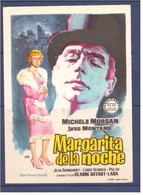 Programa Cine. Margarita De La Noche. Michele Morgan. Ives Montand. Francia Italia 1956. Sello Cine Alcazar. Tanger. Mar - Affiches & Posters