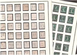PERFORÉS Collection Semeuse 5c Vert, 83 Différents ! S/2 Pages - France