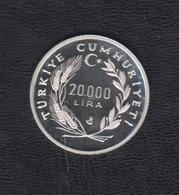 TURQUIA.  AÑO 1990.-  20000 LITAS TURCAS CAMPEONATO MUNDIAL DE FUTBOL ITALIA. - Türkei