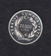 TURQUIA.  AÑO 1990.-  20000 LITAS TURCAS CAMPEONATO MUNDIAL DE FUTBOL ITALIA. - Turquia