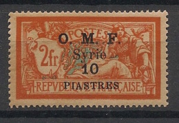 Syrie - 1920-22 - N°Yv. 66a - Merson OMF 10pi Sur 2f - Variante Rouge-orange Foncé - Neuf Luxe ** / MNH / Postfrisch - Syria (1919-1945)
