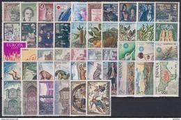 ESPAÑA 1972 Nº 2071/2116 AÑO NUEVO COMPLETO,46 SELLOS - Años Completos