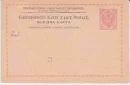 BOSNIE DOPISNA KARTA NEW 1886 - Entiers Postaux