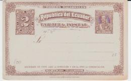 EGUADOR 1885 TRAJETA POSTAL 2 CENTAVOS - Ecuador