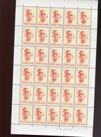 Belgie 1973 1690 Pierard Ianchelevici Sculpture Luppi Full Sheet MNH Plaatnummer 1 - Full Sheets