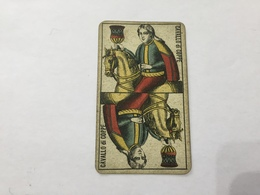 CARTA DA GIOCO PIEMONTESE VIASSONE TAROCCHI CAVALLO DI COPPE 1896 - Altre Collezioni