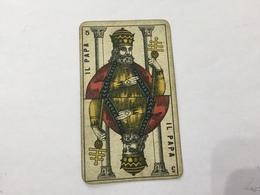 CARTA DA GIOCO PIEMONTESE VIASSONE TAROCCHI IL PAPA 1896 - Altre Collezioni