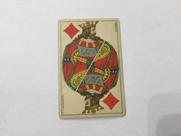 CARTA DA GIOCO POKER FRATELLI ARMANINO Rè DI QUADRI 1886 GENOVA - Non Classificati