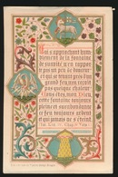 HEILIG PRENTJE - IMAGE PIEUSE - 12 X 7.5 CM --  ADEL NOBLESSE - 1891  ANNE DE MAN - PREMIERE COMMUNION 2 SCANS - Imágenes Religiosas