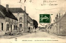 89 ARCES LA GRANDE RUE DU COTE DE CERISIERS TB ETAT - Francia