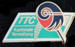 CLUB DE TENNIS DE TABLE SUISSE ALLEMAND - RAQUETTE - TTC - SELECTION CANTONALE BALOISE - KANTONALE VERWALLUNG- (ROSE) - Tennis Tavolo