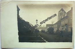 CPA Carte Photo Eglise Rue Commerce 1906 ? AVION Pas-de-Calais 62 - Avion
