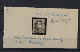 N°6 GESTEMPELD P94 Peruwelz MET 4 MARGES COB € 10,00 + COBA € 3,00 SUPERBE - 1851-1857 Médaillons (6/8)
