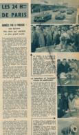 1955 : Document, 24 Heures De Paris, Linas-Montlhéry, Victoire De Veuillet-Gonzague Sur Porsche (2 Scans) - Non Classés