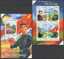 ST1723 2013 S. TOME E PRINCIPE FAMOUS PEOPLE  MAO TSE-TUNG KB+BL MNH - Mao Tse-Tung