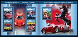 CHAD 2017 - Ferrari Cars - YT CV=38 €, 2023-6 + BF213 - Cars